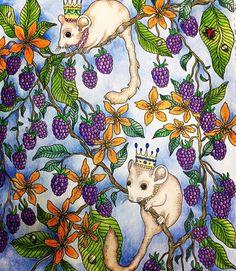 "Hanna Karlzon ""Dagdrommar"" ""Daydream"" Hanna Karlzon with her wonderful coloring book ""Dagdrommar"" translated as ""Daydream""; April 2016 #hannakarlzon #dagdrommar #adultcoloring"