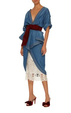 6943b9b77d Click product to zoom Denim Trench Coat