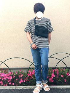 FREAKSSTOREドラフト参加中です!! ボーダーTシャツ可愛くてよきよきです👍👍 デニムと Drawstring Backpack, Backpacks, How To Wear, Bags, Fashion, Handbags, Moda, Fashion Styles, Backpack