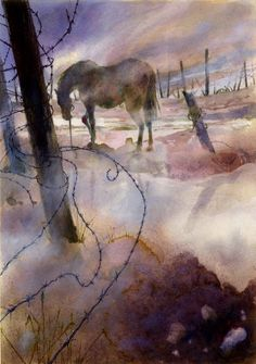 War Horse by Michael Morpurgo. Illustrated by Alan Marks, Winner of the 2016 Book Illustration Competition.