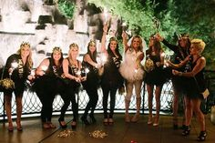 Black, Pink And Gold Bachelorette Party In Las Vegas - Weddingomania