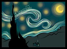 Starry Night by beyond-cloudy-skies.deviantart.com on @DeviantArt