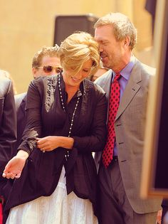 best buds Hugh Laurie and Emma Thompson