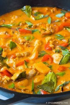 The Best Thai Panang Chicken Curry Recipe - The most amazing red chicken curry we've ever made! This light and healthy dish is better than any takeout