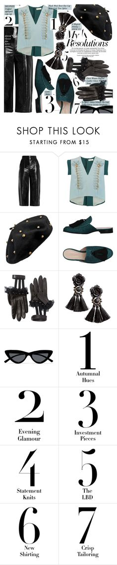 """Win It! #PolyPresents: New Year's Resolutions"" by merrygorounds ❤ liked on Polyvore featuring MSGM, Delpozo, Lerre, Gucci, H&M, Le Specs, contestentry, polyvoreeditorial, polyPresents and myresolutions"