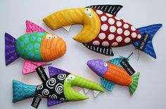 Designer Toy Fish, crabs, whales and Sea-life! Such fun & Games with Creative Characters! Via Buttuglee Fish Crafts, Diy And Crafts, Arts And Crafts, Sewing Toys, Sewing Crafts, Sewing Projects, Art Projects, Fabric Toys, Fabric Crafts