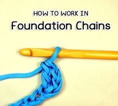 Picture of How to Crochet in Foundation Chains