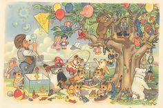 Mecki im Schlaraffenland 08    Mecki im Schlaraffenland  Märchen/Abenteuer im Comic-Stil  Zeichner: Roland Escher  Copyright by Diehl-Film / Hör Zu  Deutschland 1958  ex libris MTP  www.meckiseite.de/