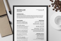Resume/CV Template I by Print Forge on Creative Market