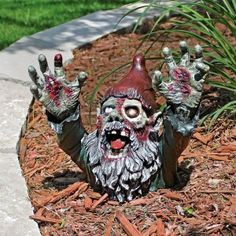 Oh no - The Apocalypse has happened and we have Zombie Garden Gnomes.  This one is scary and there is another particularly creepy one to see if you click through.......
