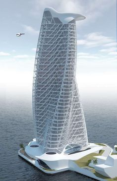 Strata Tower, Abu Dhabi, UAE by Asymptote Archit. Love the Weave Facade! Architecture Design, Futuristic Architecture, Beautiful Architecture, Contemporary Architecture, Contemporary Design, Dynamic Architecture, Architecture Wallpaper, Building Architecture, Architecture Student