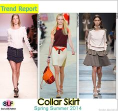 Collar #Skirt #FashionTrend for Spring Summer 2014 #spring2014 #trends