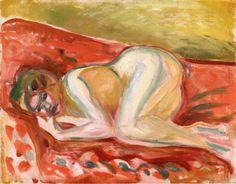 dappledwithshadow:Crouching NudeEdvard Munch, 1917-1919