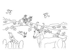 Coloring sheet from Cowboy Charlie by Jeanette Winter, page 15