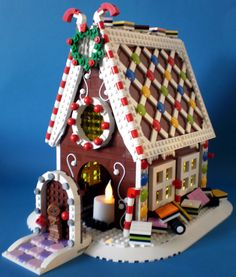 My kind of gingerbread house: it's all Lego!