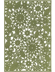 Unique Rug Design with a vintage tropical style vibe - Sanibel Cutwork Sage Green Indoor Outdoor Rugs
