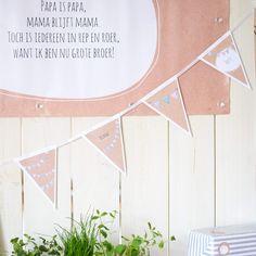 Vlaggenlijn | Feestvlaggetjes #kinderfeestje #babyborrel #partyflags #Beaublue