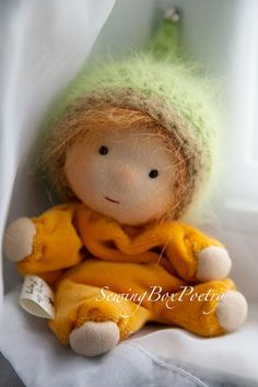 RESERVED Waldorf doll Tiny Baby Girl Waldorf by mARTicreates