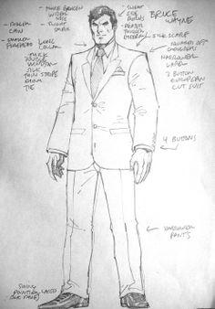 Bruce Wayne concept art by Jim Lee