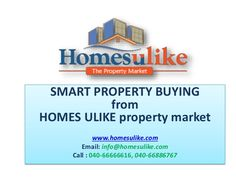Homesulike.com is a leading provider of Real estate, Residential, commercial services in Hyderabad. Homesulike.com is a good platform to all who are dealing in properties or who are searching for property.  visit http://www.Homesulike.com