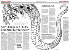 Illustration Gezienus Bruining, art direction Erik Gigengack. © De Twentsche Courant Tubantia