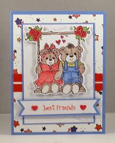 Lois' card using Chloe & Ben on Swing stamp & die set