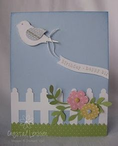 Crafting & Rambling: Spring Bird With A Message Pretty Cards, Cute Cards, Punch Art Cards, Cricut Cards, Bird Cards, Happy Birthday Cards, Paper Cards, Creative Cards, Flower Cards