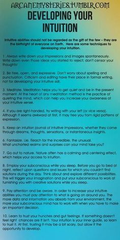 Developing Your Intuition - Tarot Tips. More #tarotcardstips #KnowingYourChakras