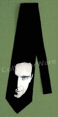 ROBBIE WILLIAMS drawing CUSTOM ART UNIQUE TIE   Each necktie is individually hand-painted, a true and unique work of art indeed!  To order this, or design your own custom tie, please contact us at info@collectorware.com, or visit http://www.collectorware.com/neckties-robbie_williams.htm