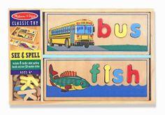 Melissa & Doug See & Spell Learning Toy - Beginning Spelling Toy 2940 #MelissaDoug