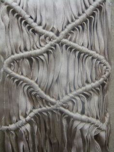 Modern Macrame - constructed textiles design using knots and repetition to create a structured surface; fabric manipulation // Ffion Griffith