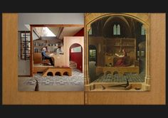 Bill Toomath's Re-creation of the Painting of St. Jerome in his Study by Antonello da Messina.