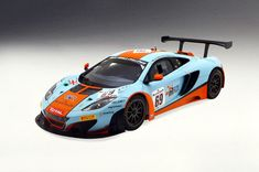 True Scale 1/18 McLaren 12C GT3 #69 Gulf Colors Spa 2013 141822R RESIN REPLICA #TrueScale #McLaren