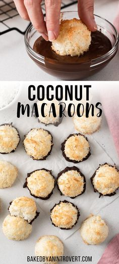 Best Dessert Recipes, Easy Desserts, Sweet Recipes, Delicious Desserts, Snack Recipes, Yummy Food, Snacks, Easy Coconut Macaroons, Coconut Desserts