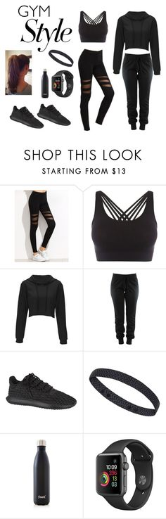 """Gym Style"" by bluejasmine360 ❤ liked on Polyvore featuring Pepper & Mayne, adidas Originals, Sweaty Betty, S'well and gymessentials"