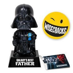 Darth Vader Father Wacky Wisecracks: If you love Star Wars, the Funko tall Darth Vader ?s Father? Wacky Wisecrack Bobble Head is either th Darth Vader Toy, Darth Vader Father, Princesa Leia, Leia Star Wars, Fathers Day Gifts, Gifts For Dad, Web Design, Father Figure, Star Wars Gifts