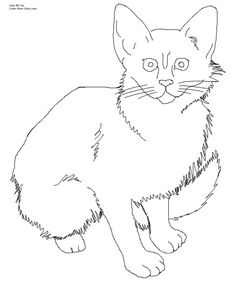 cat color pages printable   Click here for the 8.5 x 11 printable size