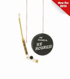 hockey puck or stick ornament christmas tree ornaments