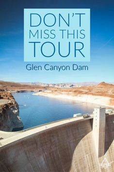 Don't miss the Glen Canyon Dam tour in Page, AZ. Learn about the engineering marvel that created Lake Powell! Arizona Road Trip, Arizona Travel, Lake Powell Houseboat, Lake Powell Utah, Glen Canyon Dam, Trip To Grand Canyon, Amazing Adventures, Travel Usa, Adventure Travel