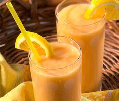 fuzzy navel à la banane-----------------------------------Un cocktail aux saveurs des tropiques....