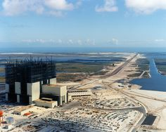 Vehicle Assembly Building (VAB) at Cape Canaveral during construction.