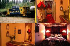 Aurora Express Bed & Breakfast, Fairbanks, Alaska, a hotel with old railroad cars