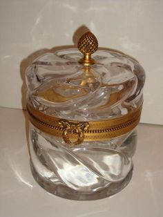 RARE Heavy French Hand Cut Lidded Crystal Jewelry Box | eBay - Lovely, but at almost $5000 that they want for it, I will pass.....b