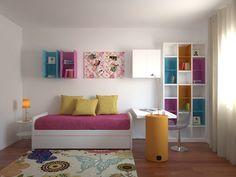 Quarto Flower Power -  Um quarto cheio de luz e cor inserido numa moradia de 400m2 em Luanda.  www.baobart.pt #mobiliario #decor #design #pecasdecorativas #atelier #Portugal #Angola #Luanda #facebook #instagram #pinterest #sucesso #interiordesign #decorating #decoration #homedecor #designcool #flower #power #bedroom #inspiração #quarto #teen #kid #beautiful #color #cor