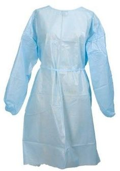 #manythings Product DetailsApplication : Fluid-Resistant Gown #Material : Polyethylene coated Polypropylene Securing Method : Neck and Waist Tie Size : One #Size ...