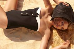 Lily Donaldson Models the Best of Swim Suits 2014... Chanel.