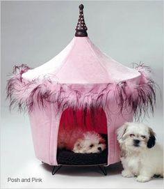 Amazon.com: Pet Tent Small Dog Bed - Posh & Pink: Pet Supplies