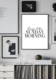 Printable quote poster: Easy like sunday morning | sunday funday | Lionel Richie | music lyrics print  | typography quote