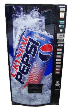 Crystal Pepsi vending machine