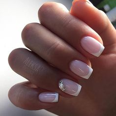 38 Ideas Manicure Francesa Simple Pretty Nails For 2019 French Nails, Gorgeous Nails, Pretty Nails, Milky Nails, Lace Nails, Bride Nails, Wedding Nails Design, Nagel Gel, Halloween Nails